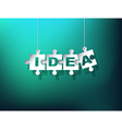 IDEA puzzle pieces vector image