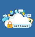 Internet security concept Flat design stylish