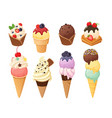 isolated ice cream 4 vector image vector image