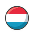 isolated luxembourg flag icon black design vector image