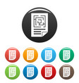 labyrinth solution icons set color vector image