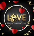 love card with red hearts and bow vector image vector image