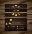 luxury golden business card vector image vector image