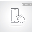 Modern Technology Smart Phone Icon vector image vector image