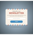 Newsletter subscribe form for web and mobile vector image vector image