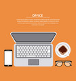 office working process vector image vector image