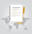 paris agreement climate accord paper document vector image vector image