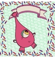 Pink funny monster in candy vector image vector image