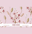 pink ochid tender background realistic floral vector image vector image