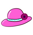 pink woman hat on white background vector image vector image