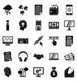 portfolio site icons set simple style vector image vector image