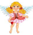 Pretty angel girl with wings vector image vector image