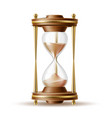 realistic hourglass sandglass 3d mock up vector image