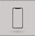 realistic mobile phone with empty screen vector image
