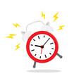 red alarm clock ringing icon isolated vector image