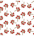 red currant berry seamless pattern on white vector image vector image