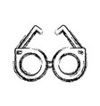 round glasses accessory trendy fashion icon vector image