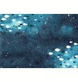 school fish are swimming on night sky vector image vector image