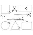 scissorsscissors icon shape with seamless cut line vector image vector image