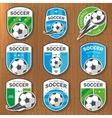 set football logos vector image vector image