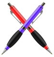 Set of Colorful Pens Isolated vector image vector image