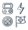 set video gamepad with energy symbol vector image vector image