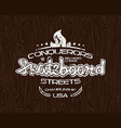 Skateboard emblem for t shirt
