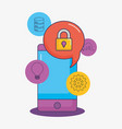 smartphone security protection data creativity vector image
