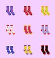 socks as Christmas signs vector image vector image
