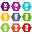 spa body silhouette icons set 9 vector image