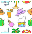 summer object pattern vector image vector image