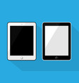 tablet black and white color flat vector image