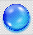 transparent blue sphere with shadow vector image vector image