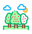 trees forest icon outline vector image