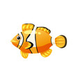 tropical exotic clown fish bright colorful vector image vector image