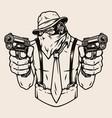vintage concept dangerous gorilla mafioso vector image