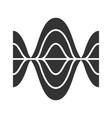 voice recording glyph icon silhouette symbol vector image vector image
