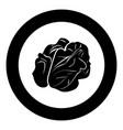walnut icon black color in circle vector image