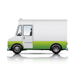 white and green van vector image vector image