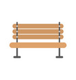 wooden bench furniture vector image