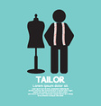 Black Symbol Tailor With Mannequin vector image