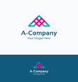 A letter love logo vector image vector image