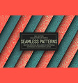 abstract simple seamless patterns vector image vector image