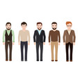 adult man dressed in business and casual clothes vector image vector image