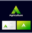 agriculture company logo business card