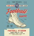 american football flyer a4 format ruggame vector image vector image