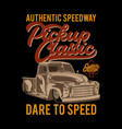 authentic speedway vector image