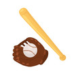 baseball accessories isolated vector image vector image