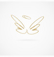 big golden wings vector image