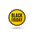 black friday sale special offer price sign vector image vector image